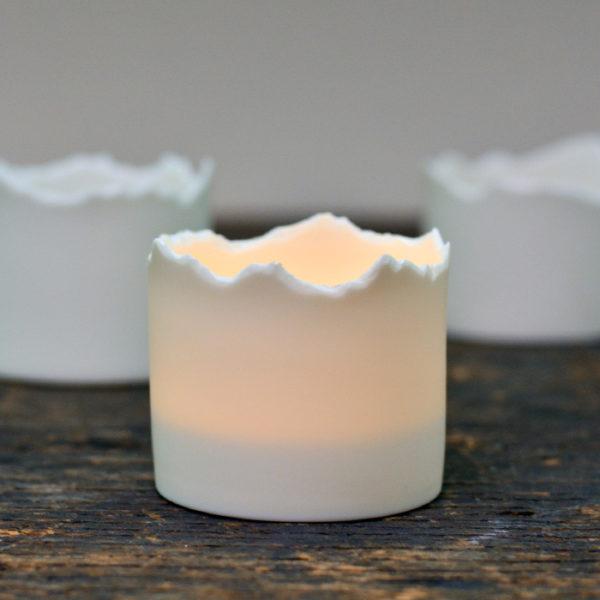 Berglicht – Windlicht aus Porzellan