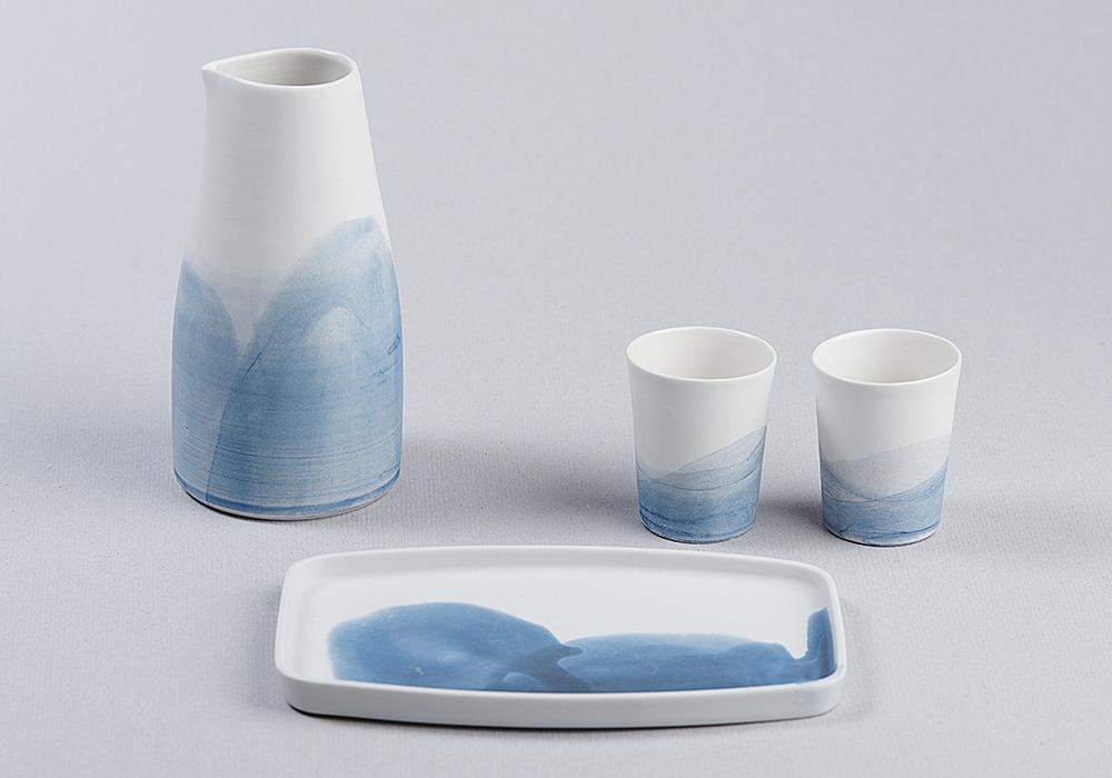 Sake Set Porzellan
